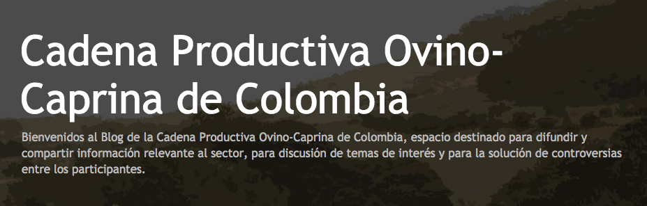 Website Cadena Productiva Ovino-Caprina de Colombia