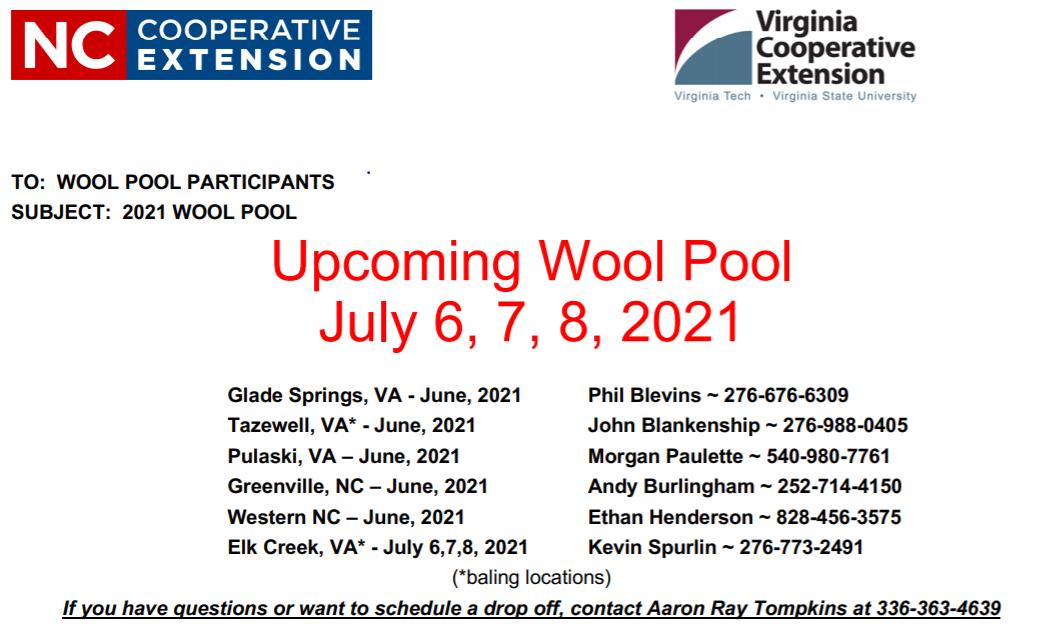 Wool Pool flyer image